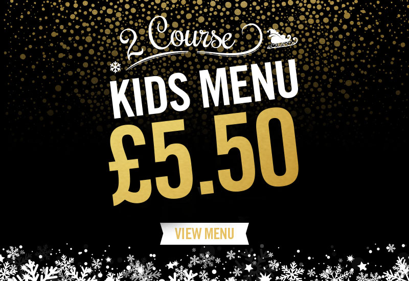 Kids Festive Menu at Shandwick's